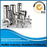 matériel soudé sanitaire hygiénique de coude d'ajustage de précision de pipe de tube de l'acier inoxydable 304 316