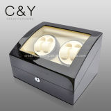 4 + 6 Montre de stockage Piano Finish Lacquer Wooden Automatic Watch Winder
