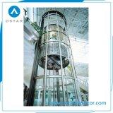 Forma redonda de lujo ascensor Precio, la observación de elevación con Vvvf duro