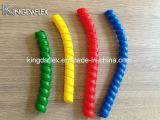 Il tubo flessibile ed il cavo idraulici hanno usato la protezione a spirale di plastica variopinta della protezione del tubo flessibile