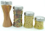4sets Screw Glass Storage Jar Kitchen Sweet Preserve Containers
