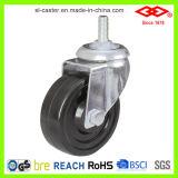 колесо рицинуса плиты шарнирного соединения PU 125mm промышленное (P102-26D125X35)