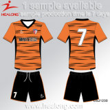 Sportswear popular de Healong algum futebol Jersey do Sublimation da tintura do logotipo