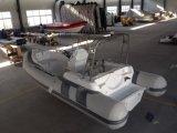 boot 19feet Rib580c met Opblaasbare Boot van Hull van de Glasvezel van Ce de Stijve met de Vissersboot van de Buitenboordmotor