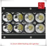 도로 빛과 LED 모는 빛 떨어져 SUV 차 LED를 위해 방수 31.5inch 180W 번쩍이는 LED 표시등 막대의 LED 차 빛