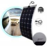 Panneau solaire semi flexible mono du module 100watt de picovolte de cellules de Sunpower de film mince