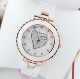2017 siete princesas New Fashion Love Shape y reloj de cerámica popular