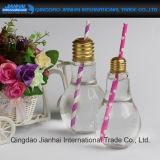 Neue Entwurfs-Getränkeglasflasche Lulb Form-Saft-Flasche