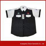 Personalizado de impresión de algodón poliéster camisa de trabajo azul (S114)