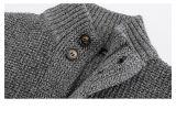 ボタンが付いている毛織の余暇のジャケット