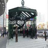 Armoires encastrées en acier préfabriqué en métro, gare, carport souterrain, aéroport