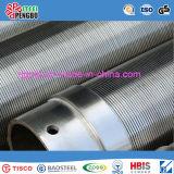 Poço do aço inoxidável - tubulação da tela