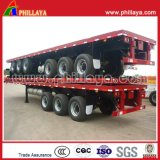 3 Axle 40foot Terminal Shipping Truck Semi-remorque à conteneur à plat