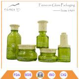 Botella de perfume de cristal y tarros Crema Conjunto