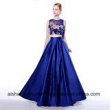 A - Zeile Schaufel-Stutzen lang Sleeveless mit Taschenappliques-Abschlussball-Kleid