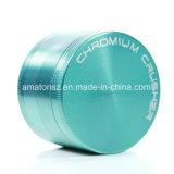 55mm 분쇄기 4개 부품 아연 합금 담배 크롬 쇄석기 향미료 나물 쇄석기