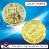 スーベニアカスタムコインメダル / スポーツチャンピオンゴールドサッカーバッジメタルコイン( LZY1300062 )