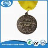 Druckgießenvergoldung-Decklack-Andenken-Medaille mit Farbband