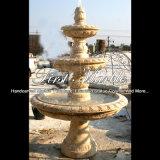 De eenvoudige Antieke Fontein van de Travertijn voor Decoratie mf-127 van het Huis