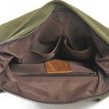 Segeltuch-Buch-Handtaschen-Leder-Schulter-Rucksack-Beutel (RS-2003C)