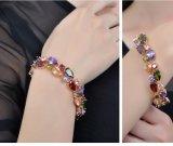 Rosen-Goldarmband des Monalisa Farbezircon-Armband-sieben farbiges