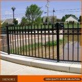 Schwarze Farben-Stahlpfosten-Zaun