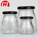 De Kruik van het Glas van het multi-gebruik met Plastic Deksel of Houten Cork