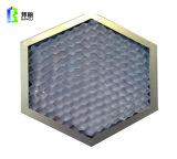 Façade ignifuge en aluminium de matériau de construction d'âme en nid d'abeilles de taille de petite cellule