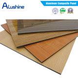 polyester de 3mm enduisant la feuille composée en aluminium d'ACP de panneau de couleur en bois (1220*2440*3mm)