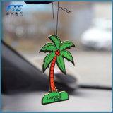 Ambientador de aire del coche del colgante de papel del olor del coco de la decoración del coche de Haning