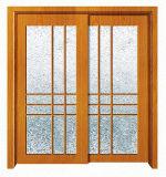 Disegno interno del portello della stanza da bagno di vetro glassato della guarnizione di alluminio
