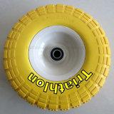 3.50-8 4.00-8 3.00-8 4.00-6 6.50-8대의 외바퀴 손수레 단단한 고무 PU 거품 바퀴