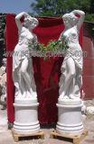 Sculpté la statue en marbre de Carrare de belles femmes La sculpture en pierre (sy-X1009A)