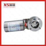 válvula de borboleta pneumática do ar sanitário do aço inoxidável de 2.5inch 63.5mm