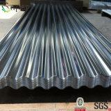 Tôle d'acier galvanisée par Gi ridée enduite par zinc pour le toit