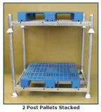 Pesado-dever Storage Metal Stack Rack do armazém com Posts
