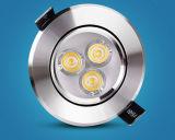o diodo emissor de luz 5W redondo ilumina-se para baixo