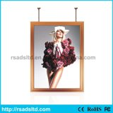 Double côté en aluminium LED Slim Light Box Poster Frame