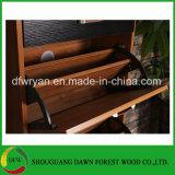 熱い販売のメラミン3低下のドアの木の靴のキャビネットの家具