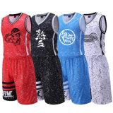 Diseño respirable 100% de Jersey del baloncesto de la sublimación de la ropa de deportes del poliester