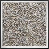 Laço poli da guipura da tela elegante do laço do bordado