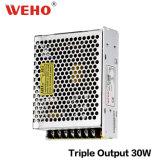 AC 110V/220V au bloc d'alimentation triple de C.C T-30W 30watt Swtiching
