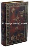 Antigüedades de alta gama relieve Vintage de cuero de PU/almacenamiento de madera MDF cuadro Libro