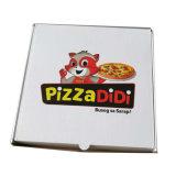 Rectángulo de la pizza para la tapa de empaquetado y la cartulina acanalada inferior