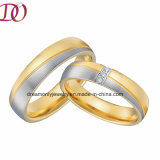 Ebay nueva moda Venta caliente de la banda de acero inoxidable de la boda el anillo de compromiso anillo anillo de dedo de la pareja