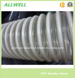 Plastique PVC flexible/flexible de décharge industrielle/flexible d'aspiration en spirale