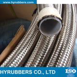 Hyrubbers Hersteller-Großverkauf-umsponnener Stahlteflonschlauch mit PTFE Gefäß