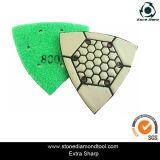 Tampone a cuscinetti per lucidare asciutto flessibile del triangolo per marmo