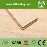 Strandwoven manchó el suelo de bambú blanco de marfil