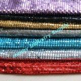 Игристое декоративная плоская форма алюминиевой стружки с металлическими Sequin ткань